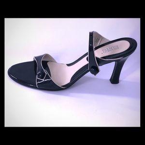 Franco Sarto Open Toe Strap Heels